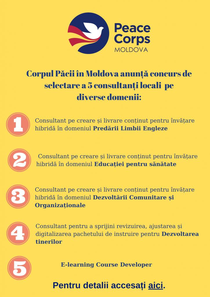 Corpul Păcii în Moldova anunță concurs de selectare a 5 consultanți pe diverse domenii_ (1)